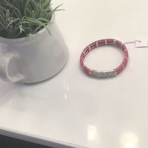 Pink with crystals bracelet